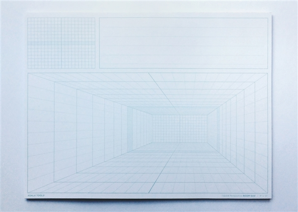 Room Grid (1-point Perspective) Sketch Pad