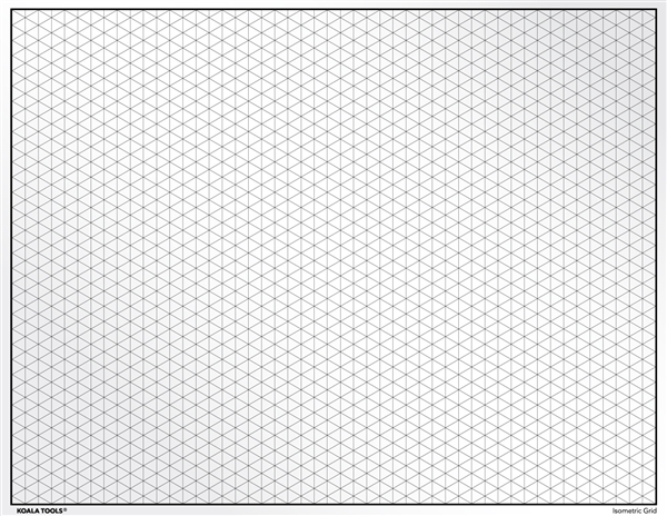 Isometric Grid Transparency Sheet