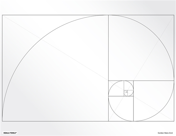 Golden Ratio Grid Transparency Sheet