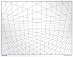 3-point Perspective Grid Transparency Sheet