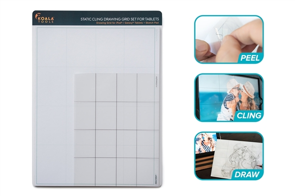 Static-Cling Drawing Grid for Tablets