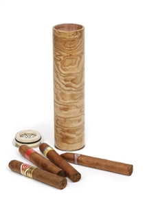 Cigar Humidifier in beautiful Tamo Ash wood