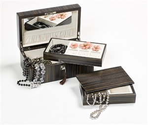 Luxury Jewelry Boxes UK in Dark Ebony
