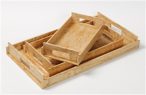 Luxury Trays in karelian birch wood