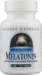 Source Naturals- Melatonin 5mgSubPep(100)