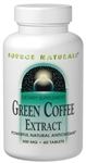 Source Naturals - Green Coffee Extract 500mg (GCA) - 60 Tabs