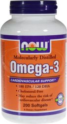 NOW - Omega-3 - 200 Softgels