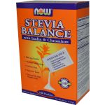 NOW - Stevia Balance with Inulin and Chromium - 100 Packets