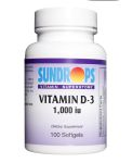 Sundrops- Vitamin D 1000 iu 100 SOFTGELS