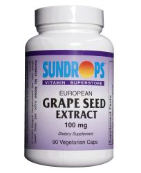 Sundrops- Grape Seed Ext 100 mg CAPSULES 90 V