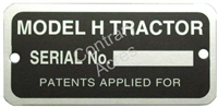 SERIAL NUMBER TAG W/ RIVETS