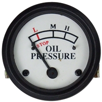 Oil Pressure Gauge (0-25 PSI) - Dash mounted White Face