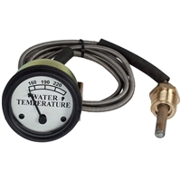 Water Temperature Gauge White Face