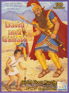David and Goliath Floor Puzzle - 100 piece