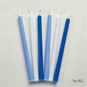 Got-the-Blues and White Hanukkah Candles