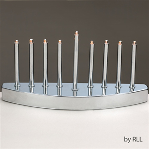 Silvertone Electric Menorah in Contemporary Design