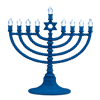 LED Blue Battery-Operated Menorah