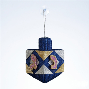 Chanukah Glitter Dreidel Decoration