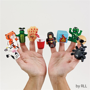 Ten Plagues Vinyl Finger Puppets