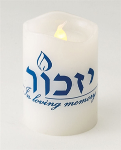 "LED ""Cool-Burning"" and Safe Yizkor Candle"