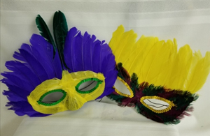Feathered and Sequinned Purim Masks