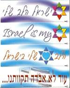 Israel is My Heart Stickers - 4/pack