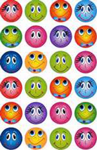 Smiley Faces - Small - 24/sheet - 10 pack