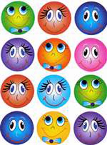 Smiley Faces - Large - 12/sheet - 10 pack