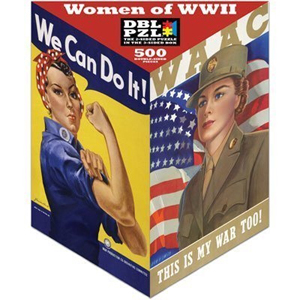 Women of WWII Double Puzzle:  Rosie and a WAAC