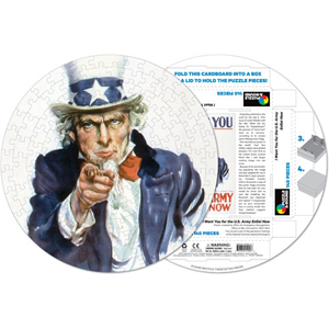 Uncle Sam, I Want You 140-piece Round Puzzle