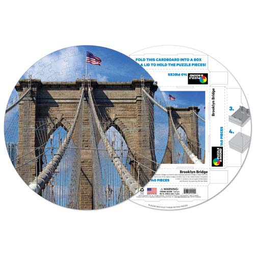 Brooklyn Bridge 140-piece Round Puzzle