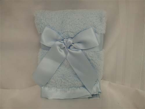 Personalized Chenille Security Blanket Blue