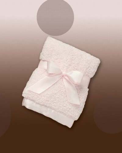 Personalized Chenille Security Blanket Pink