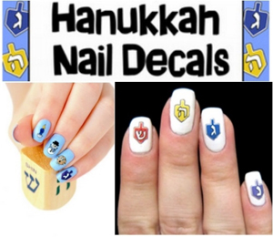 Jazzy-Snazzy Chanukah Nail Decals
