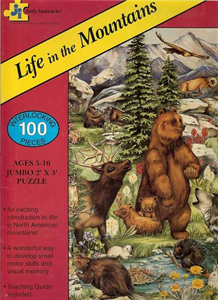 Life in the Mountains Floor Puzzle - 100 piece
