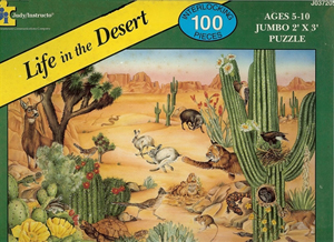 Life in the Desert Floor Puzzle - 100 piece