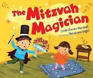 Mitzvah Magician, using his magical mitzvah powers to do good!