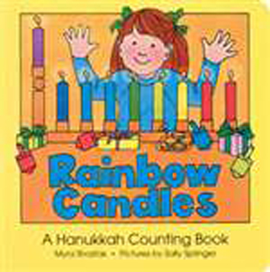Rainbow Candles Hanukkah Counting Book