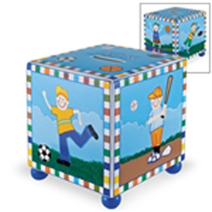 Boy's Sports Tzedakah Box