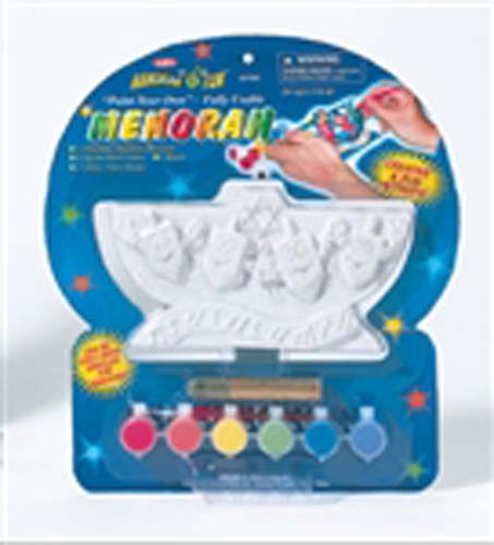 Paint Your Own Happy Dreidel Menorah Kit