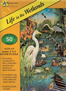 Life in the Wetlands Floor Puzzle - 50 piece