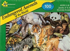 Endangered Animals of the World Floor Puzzle