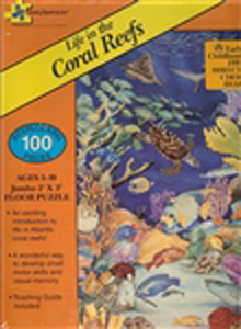 Life in the Coral Reefs Floor Puzzle - 100 piece