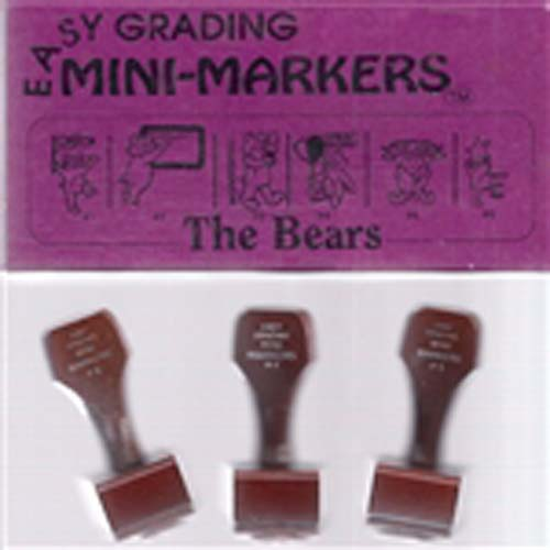 Easy Grading Bears Mini Stamps