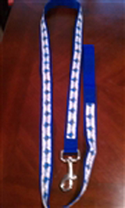 Jewish Dog Leash, Narrow, Blue