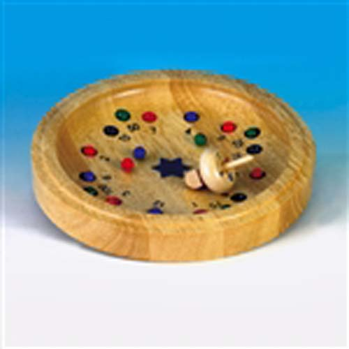 Dreidel Roulette, a wooden game of chance and challenge