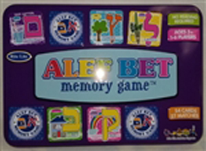 Alef Bet Memory Game for ages 3+