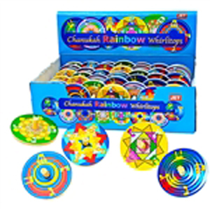Rainbow Whirly Tops