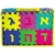 Aleph Bet Floormat with Numbers