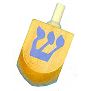 Wooden Painted Dreidel
